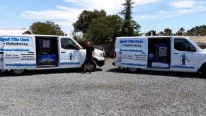 Carpet Cleaning Truck And Crew