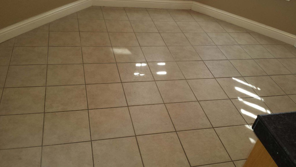 Cleaned Tile Before Color Sealing
